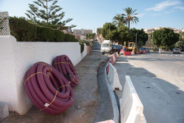 Inician trabajos para la mejora de calles en puerto de Mazarrón - 1, Foto 1