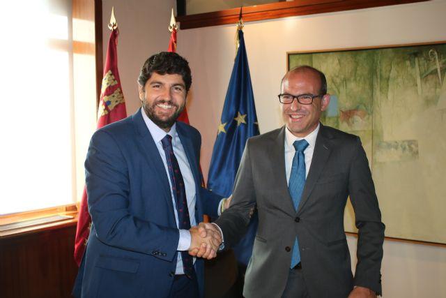 El presidente Fernando López Miras se reúne con el alcalde de Aledo, Juan José Andreo - 1, Foto 1