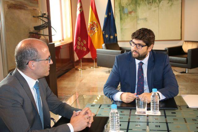 El presidente Fernando López Miras se reúne con el alcalde de Aledo, Juan José Andreo - 2, Foto 2