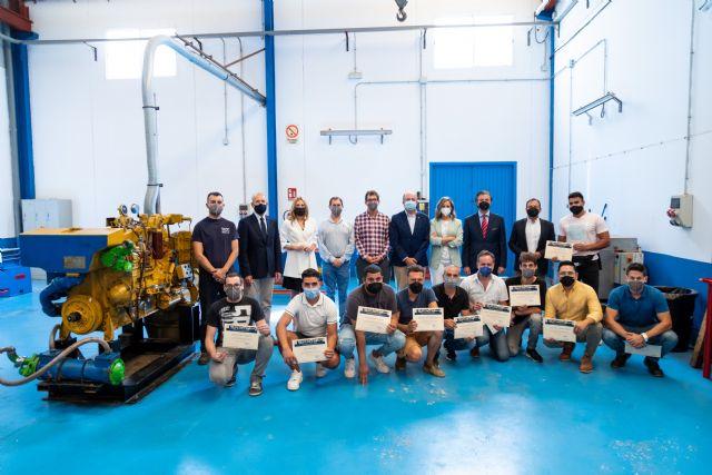 Un curso sobre motores marinos forma a 14 personas en uno de los perfiles más demandados por la industria naval de Cartagena - 1, Foto 1