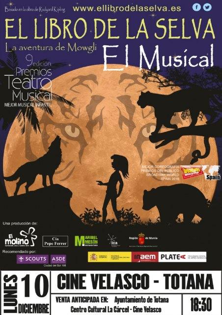 """El musical """"La aventura de Mowgli"""", basado en El Libro de la Selva llegará a Totana el 10 de Diciembre - 2, Foto 2"""