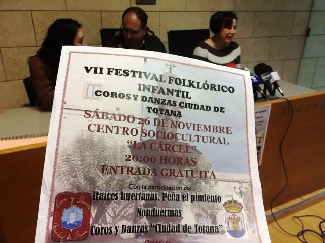 "The VII Folkloric Children's Festival ""City of Totana"" is celebrated this Saturday 26 of November, in the Sociocultural Center ""La Cárcel"""