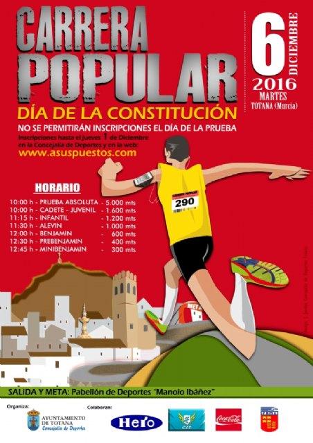 La Carrera Popular Día de la Constitución se celebra este martes, día 6 de diciembre en la urbanización El Parral, Foto 2
