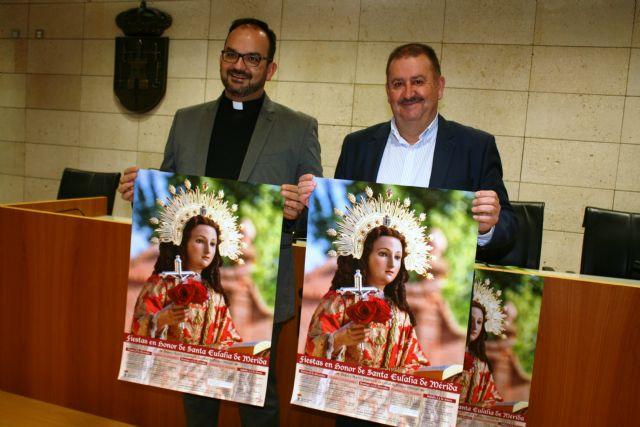 Se presenta el programa de actos religiosos de las próximas fiestas patronales de Santa Eulalia