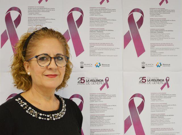 El ayuntamiento de Blanca presenta su programa de actos con motivo del 25N - 1, Foto 1