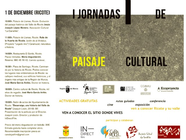 I Jornadas de Paisaje Cultural. Murcia 2018 - 1, Foto 1