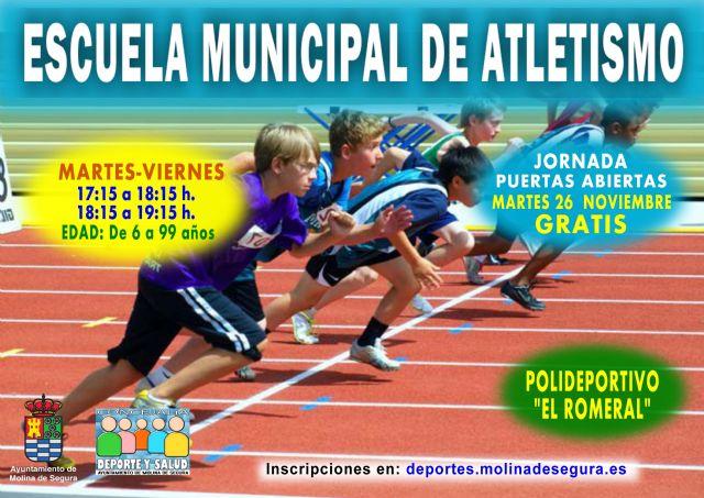 Molina pone en marcha la Escuela Municipal de Atletismo en el Polideportivo El Romeral - 4, Foto 4