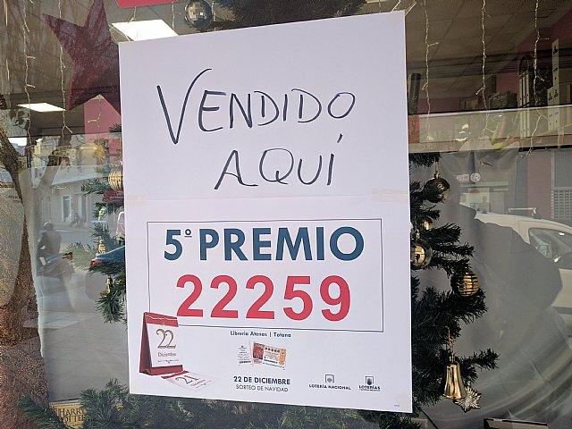 Librería Atenas de Totana vendió parte del 5º premio de la Lotería de Navidad - 4, Foto 4