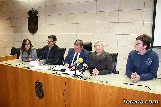 The City Council and the Totana Music Association sign a collaboration agreement for an amount of 6,000 euros - 1