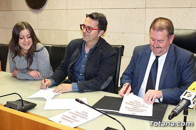 The City Council and the Totana Music Association sign a collaboration agreement for an amount of 6,000 euros - 2