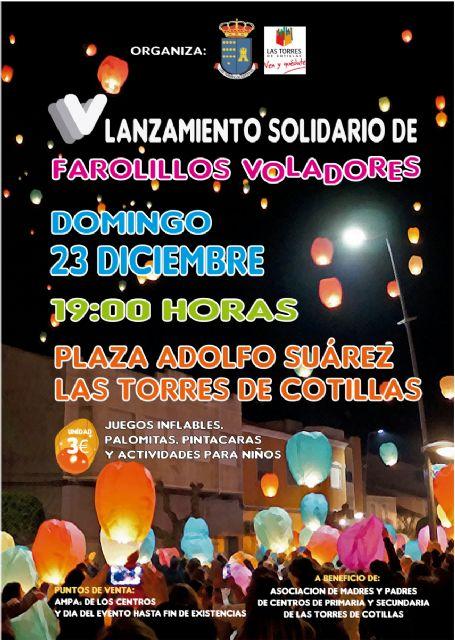 Todo listo en Las Torres de Cotillas para la quinta edición de la suelta navideña de farolillos - 1, Foto 1