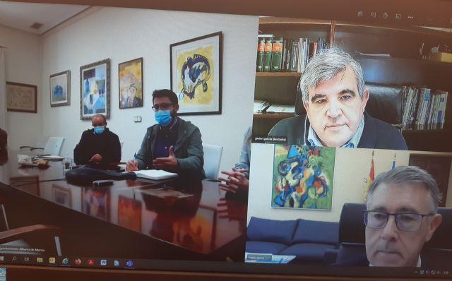 El presidente de la CHS ha mantenido un reunión de trabajo telemática con la Alcaldesa de Alhama - 1, Foto 1