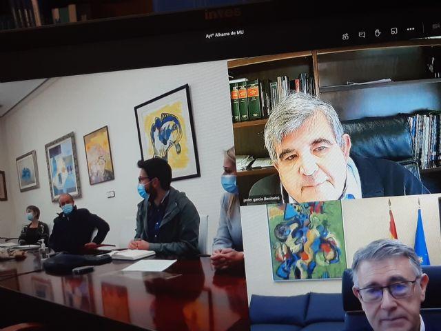El presidente de la CHS ha mantenido un reunión de trabajo telemática con la Alcaldesa de Alhama - 2, Foto 2
