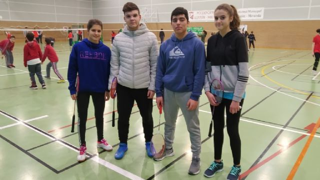 The Reina Sofía College and the IES Prado Mayor participated in the Regional South Zone Badminton School Sports Day held in Cartagena, Foto 4
