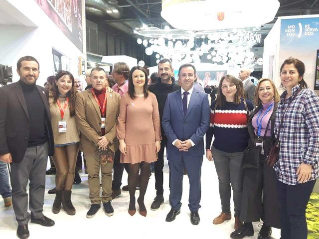 "The Councilor for Tourism attends the presentation that the Commonwealth of Sierra Espuña makes of the ecotourism product ""Espusendas"" in Fitur´2020"