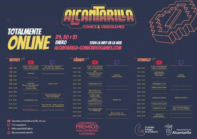 Alcantarilla programa un encuentro digital sobre cómic, ilustración y videojuegos el próximo fin de semana - 1, Foto 1