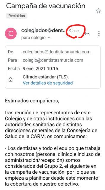 El PSOE se pregunta si es prioritaria la vacunación de la alcaldesa de Archena - 1, Foto 1