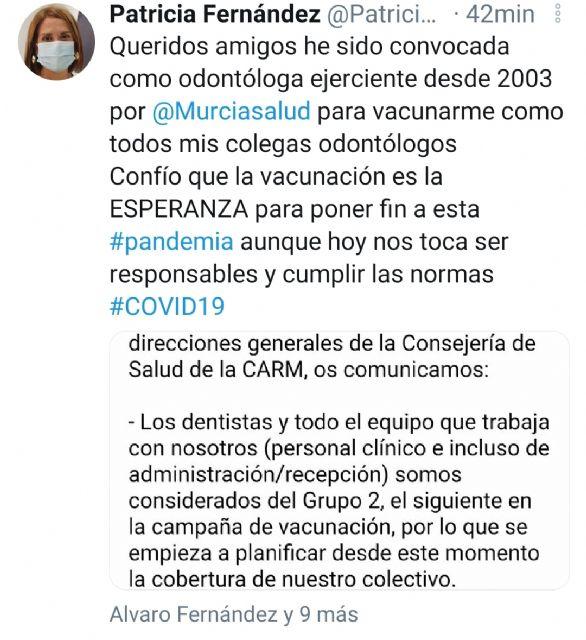El PSOE se pregunta si es prioritaria la vacunación de la alcaldesa de Archena - 2, Foto 2