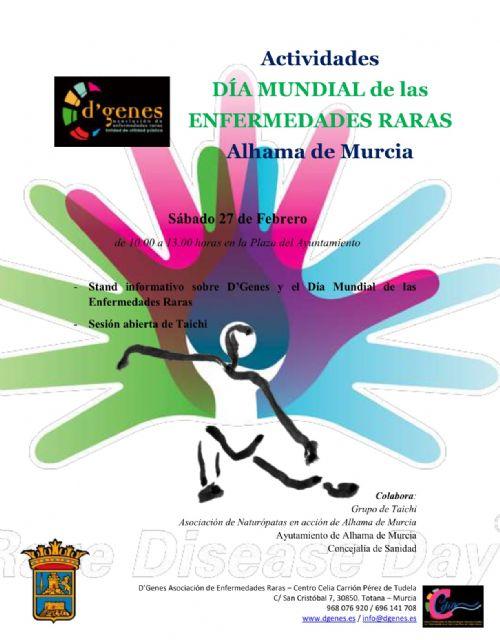 D´Genes organiza  en Alhama varias actividades con motivo del Día Mundial de las Enfermedades Raras, Foto 1