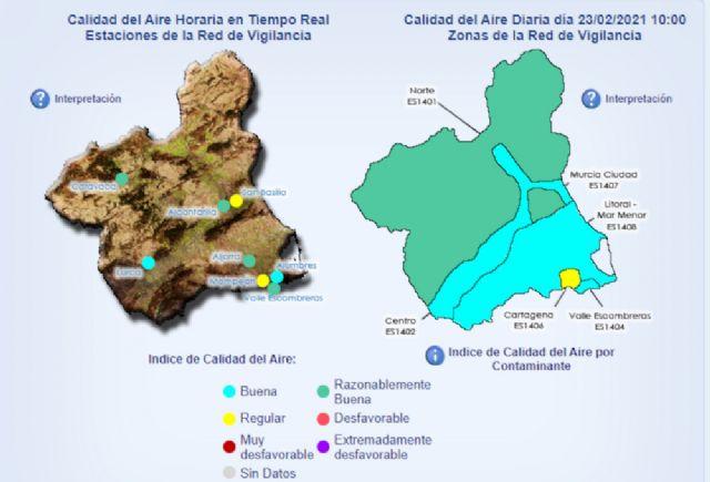Desactivados los niveles 1 y 2, correctivo y de prevención, al finalizar el episodio de contaminación en Cartagena - 1, Foto 1