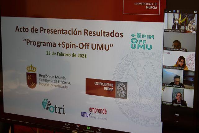 La Comunidad conoce los resultados del programa de fomento del talento +Spin off  de la Universidad de Murcia - 2, Foto 2
