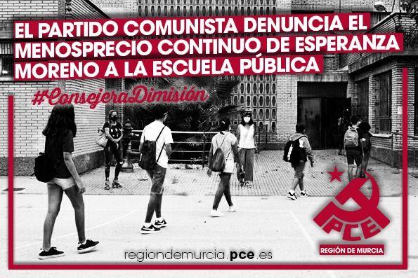El Partido Comunista denuncia el menosprecio continuo de Esperanza Moreno a la Escuela Pública - 1, Foto 1