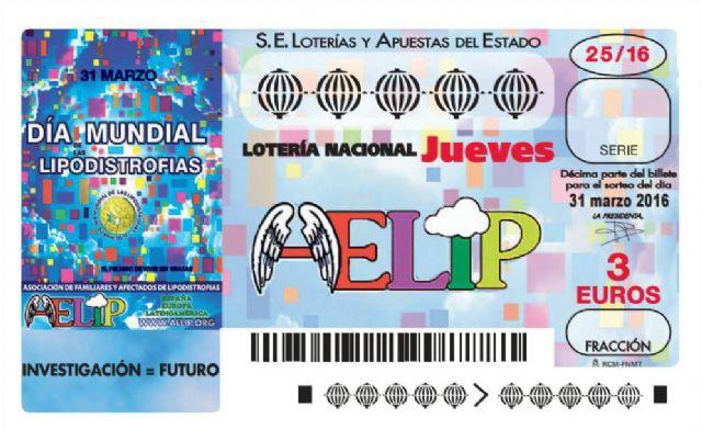El Día Mundial de las Lipodistrofias protagoniza el décimo de la Lotería Nacional del próximo 31 de marzo