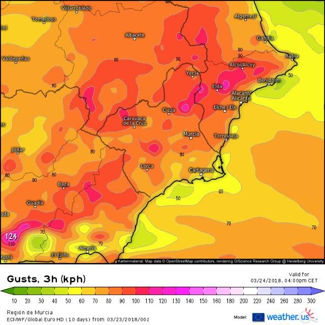 Protección Civil Totana alerta de aviso naranja en la Región de Murcia por viento, Foto 2