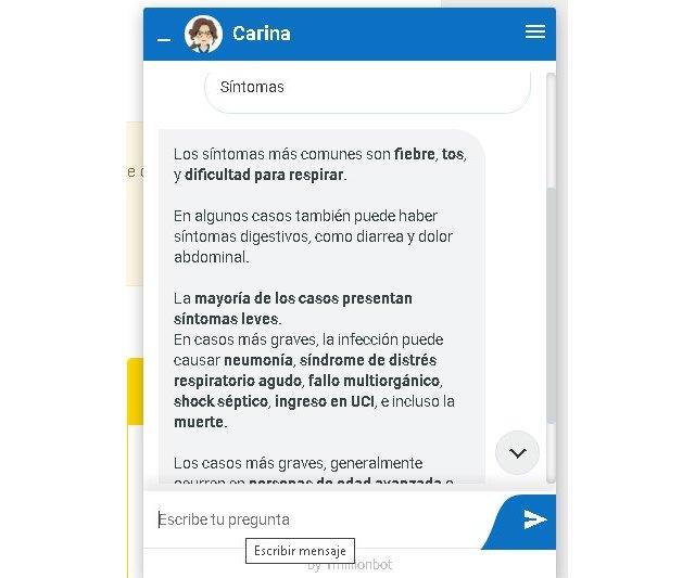 La Universidad de Murcia incorpora a su página web un chatbot para resolver dudas sobre el coronavirus - 1, Foto 1