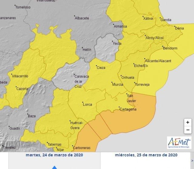 Mañana martes se intensifican las lluvias, según informa Protección Civil Totana - 3, Foto 3