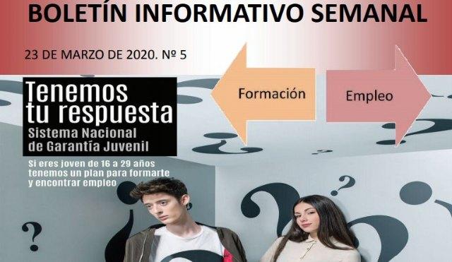 El Servicio de Garantía Juvenil distribuirá semanalmente un boletín informativo sobre Empleo y Formación - 1, Foto 1