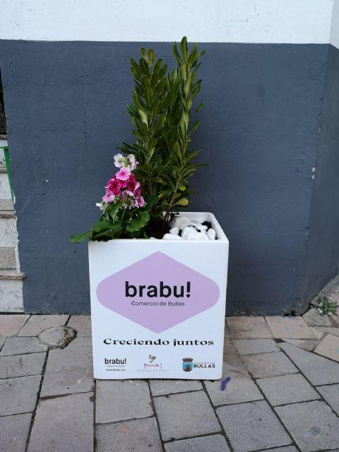 Bullas se viste de primavera con los maceteros que regala la Concejalía de Comercio - 2, Foto 2