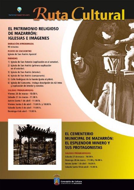 Cultura programa 12 rutas para dar a conocer el patrimonio religioso y el cementerio municipal de Mazarrón con motivo de Semana Santa - 2, Foto 2