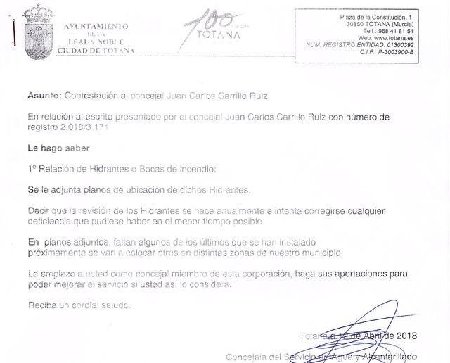 Carrillo denunciará en el Pleno