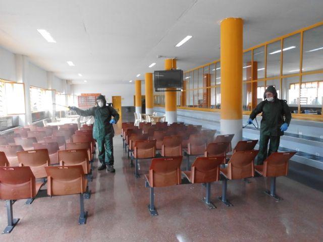 Cinco unidades de la Legión desinfectan todas las dependencias del Centro Penitenciario Murcia II - 2, Foto 2