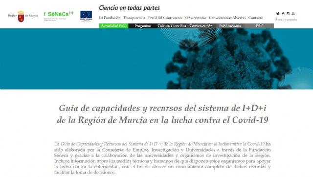 Una guía recoge las capacidades del Sistema de Ciencia y Tecnología de la Región en la lucha contra el covid-19 - 1, Foto 1