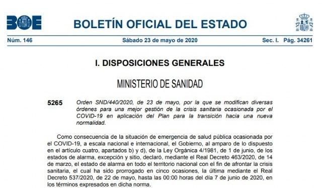 EL BOE publica la orden por la cual toda la provincia de Murcia pasa a la fase 2, Foto 1