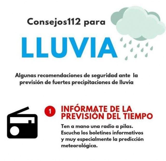 El Ayuntamiento, Policía Local y Protección Civil vigilan la alerta amarilla por fuertes lluvias en La Unión - 1, Foto 1