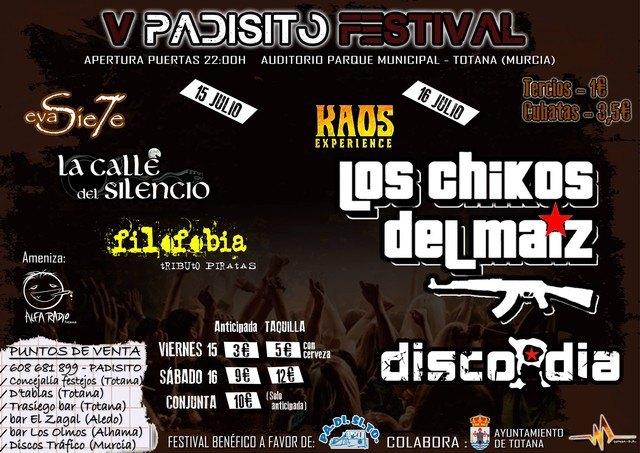 """El """"V Padisito Festival"""" se celebra los días 15 y 16 de julio en el auditorio del parque municipal """"Marcos Ortiz"""" a beneficio de esta asociación, Foto 2"""