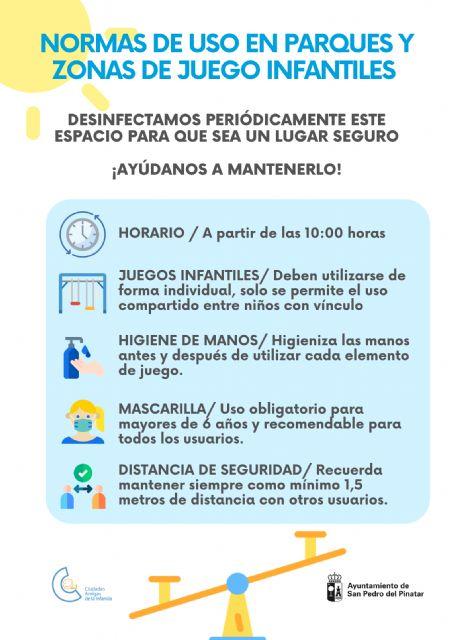 San Pedro del Pinatar pone a punto más de 40 parques y zonas de juego infantiles para su reapertura - 3, Foto 3