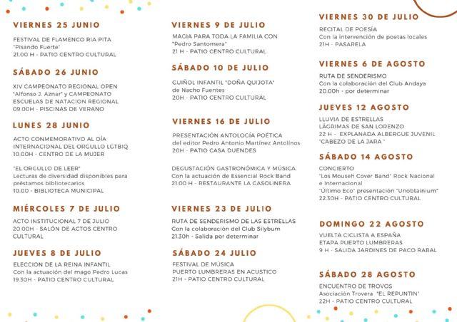 Puerto Lumbreras apuesta por los artistas locales en un verano lleno de actividades a través de la programación Nogalte Cultural - 1, Foto 1