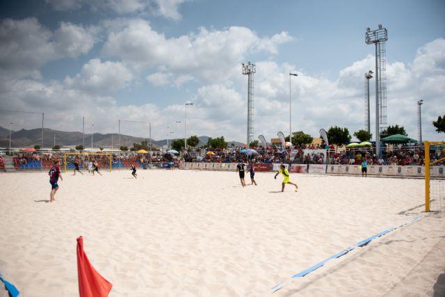 Subcampeonato para el bala azul en la fase final de la liga nacional de fútbol playa celebrada en Mazarrón, Foto 3