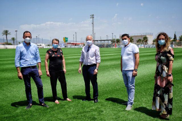 Comienza la renovación del césped del campo de fútbol municipal Onofre Fernández Verdú - 2, Foto 2