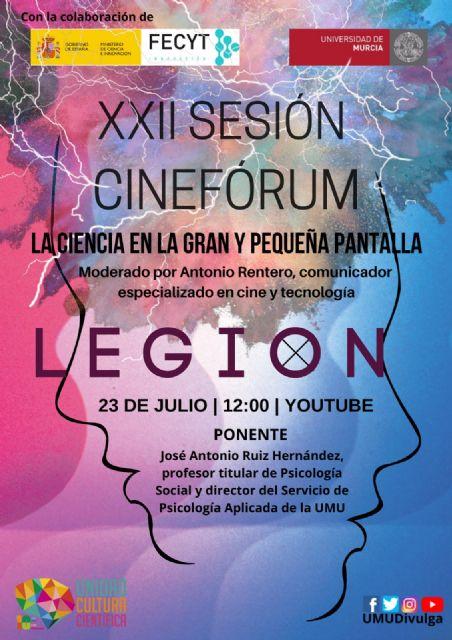 El cinefórum ´La Ciencia en la gran y la pequeña pantalla´ analiza psicosocialmente la serie Legión - 1, Foto 1