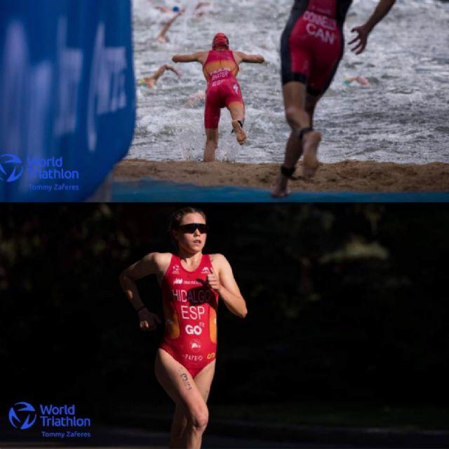 Sergio Baxter y Natalia Hidalgo, en el Campeonato del Mundo de Triatlón Sub23 - 1, Foto 1