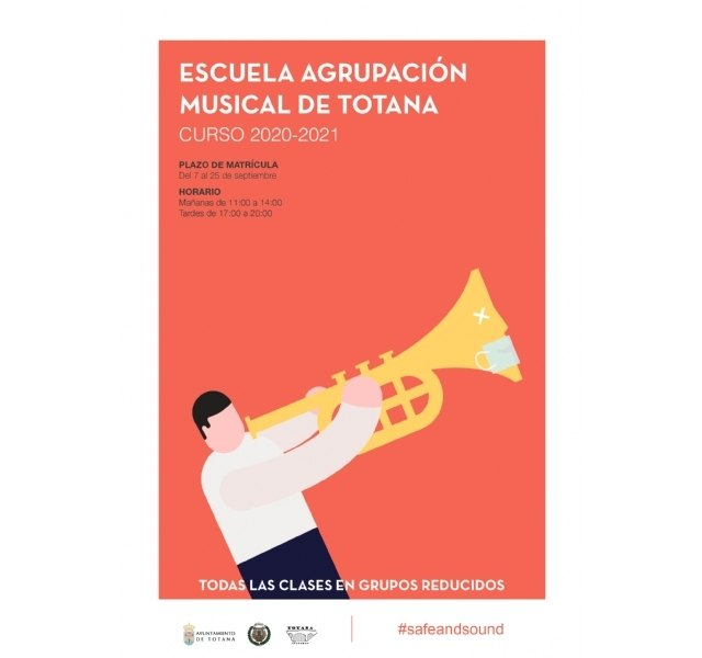 Este viernes finaliza el plazo de matrícula de la Escuela de Música de la Agrupación Musical de Totana para el curso 2020/21 - 1, Foto 1