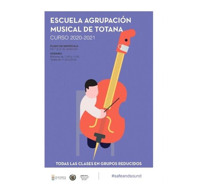 Este viernes finaliza el plazo de matrícula de la Escuela de Música de la Agrupación Musical de Totana para el curso 2020/21 - 2, Foto 2