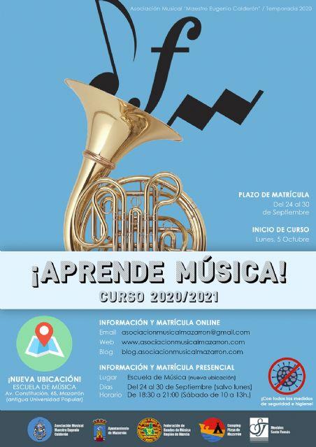 Comienza el periodo de matrícula de la Escuela de Música de Mazarrón - 1, Foto 1