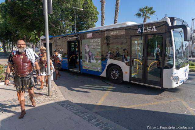 Cartagena amplía el horario de los buses gratuitos hasta las 3 de la mañana para regresar a casa en Carthagineses y Romanos - 1, Foto 1