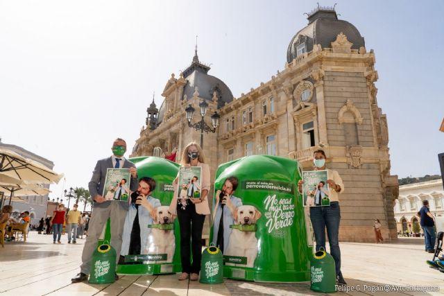 Cartagena reafirma su compromiso con el reciclaje de vidrio participando en la campaña No seas más raro que un perro verde - 1, Foto 1